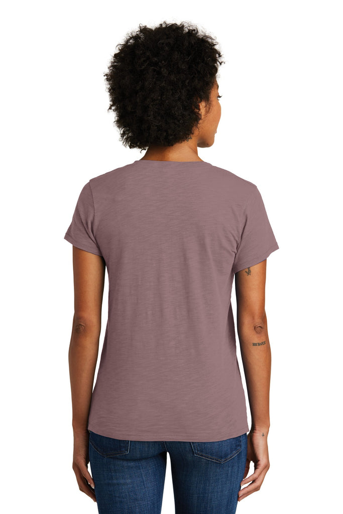 Alternative AA6097 Women's Weathered Slub So-Low V-Neck Tee - Vintage Rose - HIT A Double