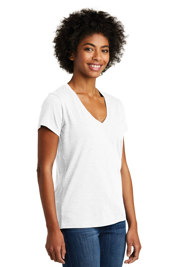 Alternative AA6097 Women's Weathered Slub So-Low V-Neck Tee - White - HIT A Double