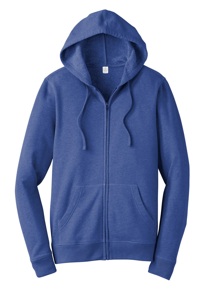 Alternative AA8050 Indy Blended Fleece Zip Hoodie - Heather Rich Royal - HIT A Double