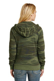 Alternative AA9573 Women's Adrian Eco -Fleece Zip Hoodie - Camo - HIT A Double