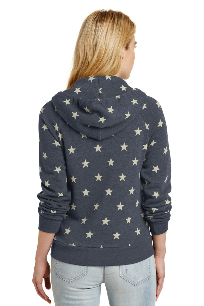 Alternative AA9573 Women's Adrian Eco -Fleece Zip Hoodie - Stars - HIT A Double