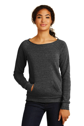 Alternative AA9582 Women's Maniac Eco -Fleece Sweatshirt - Eco Black