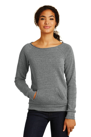 Alternative AA9582 Women's Maniac Eco -Fleece Sweatshirt - Eco Gray - HIT A Double