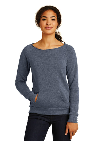Alternative AA9582 Women's Maniac Eco -Fleece Sweatshirt - Eco True Navy - HIT A Double