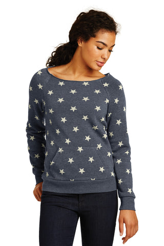 Alternative AA9582 Women's Maniac Eco -Fleece Sweatshirt - Stars - HIT A Double