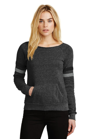 Alternative AA9583 Women's Maniac Sport Eco-Fleece Sweatshirt - Eco Black Eco True Black Eco Gray - HIT A Double