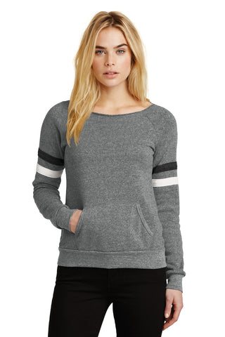 Alternative AA9583 Women's Maniac Sport Eco-Fleece Sweatshirt - Eco Gray Eco Black Eco Ivory