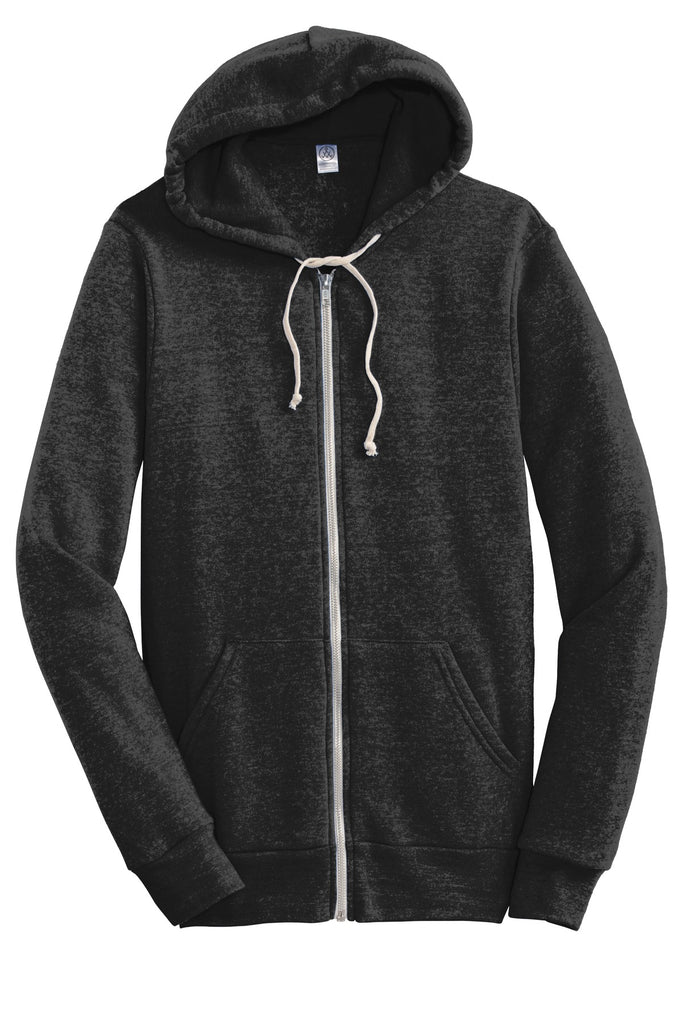 Alternative AA9590 Rocky Eco-Fleece Zip Hoodie - Eco Black - HIT A Double