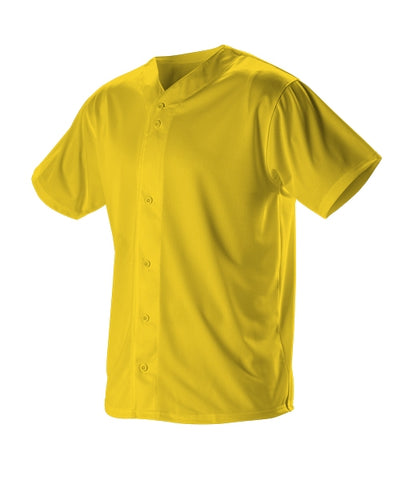 Alleson 52MBFJY Youth Full Button Lightweight Baseball Jersey - Light Gold