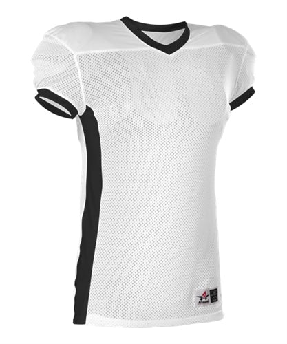 e35aa44c6 Alleson 750E Adult Football Jersey - White Black – HIT A Double