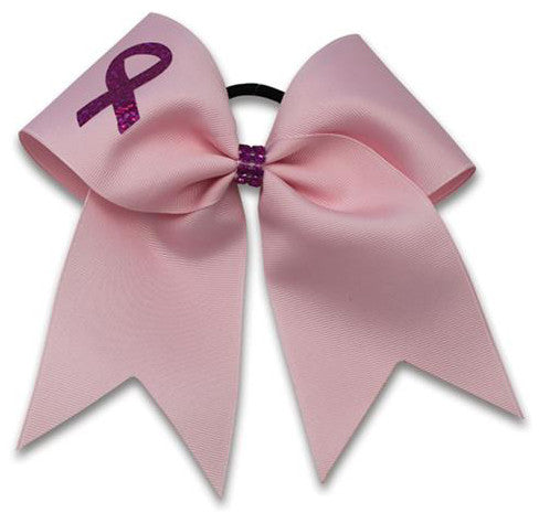 Pizzazz Awareness Bow with Ribbon - Pink