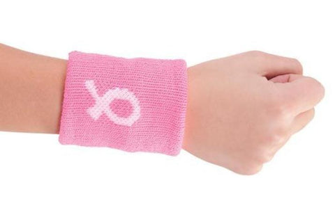 Pizzazz BC900 Awareness Wristband Breast Cancer Ribbon - Pink