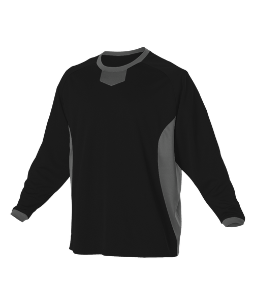 Alleson 598BBLY Youth Long Sleeve Practice Pullover Jersey - Black Charcoal 0a5eb7b9d
