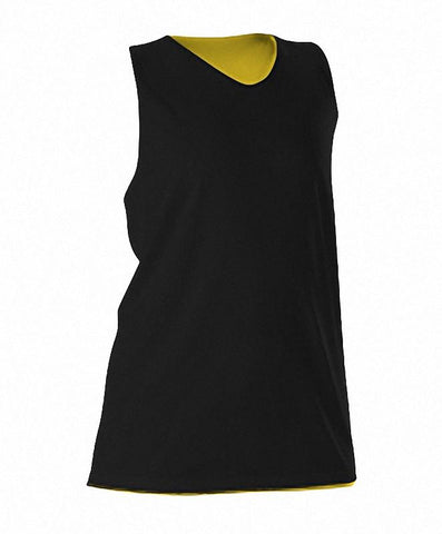 Alleson 506CRW Women's Reversible Racerback Tank - Black Light Gold