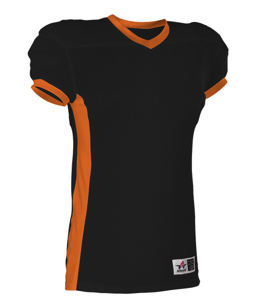 Alleson 750EY Youth Football Jersey - Black Orange - Football - Hit A Double