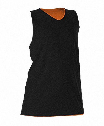 Alleson 506CRW Women's Reversible Racerback Tank - Black Orange