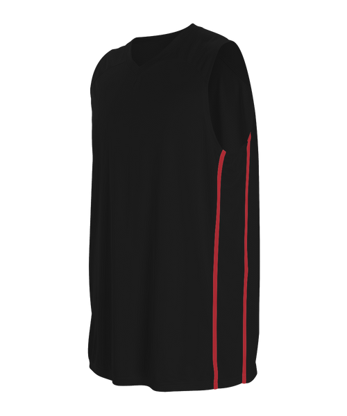 Alleson 535JY Youth Basketball Jersey - Black Scarlet