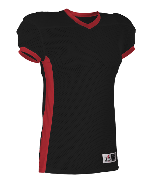 Alleson 750EY Youth Football Jersey - Black Scarlet - Football - Hit A Double