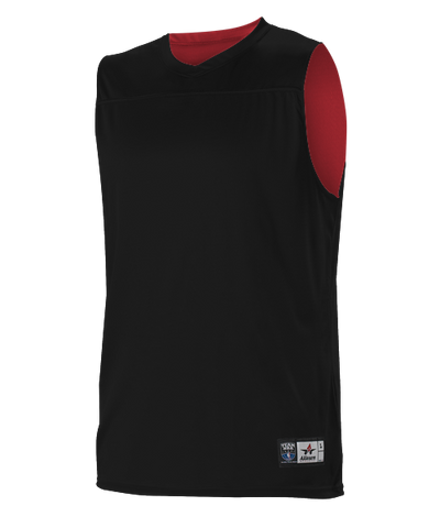 Alleson A105BA Adult NBA Blank Reversible Game Jersey - Black Scarlet