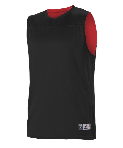 7feacb627 Alleson A105BY Youth NBA Blank Reversible Game Jersey - Black Scarlet