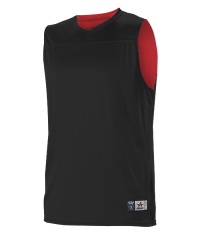 Alleson A105BY Youth NBA Blank Reversible Game Jersey - Black Scarlet