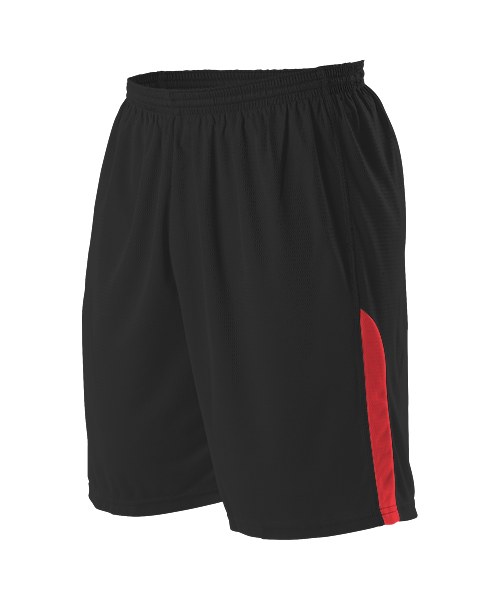 Alleson A205BY Youth NBA Blank Game Short - Black Scarlet
