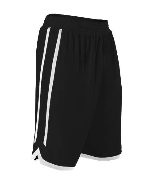 Alleson 588PY Youth Reversible Basketball Short - Black White