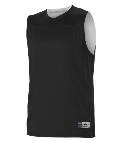 Alleson A105BY Youth NBA Blank Reversible Game Jersey - Black White