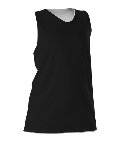 Alleson 506CRW Women's Reversible Racerback Tank - Black White - Basketball, Lacrosse/Field Hockey - Hit A Double