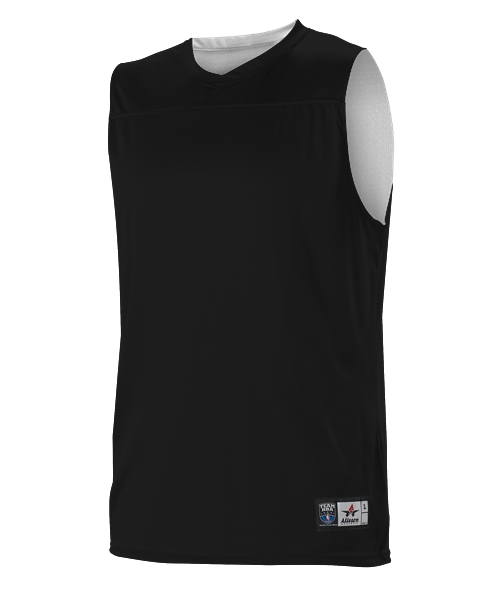 Alleson A105BA Adult NBA Blank Reversible Game Jersey - Black White