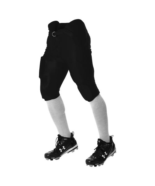 Alleson 681Y Youth Integrated Football Pant - Black - Football - Hit A Double