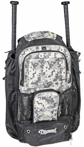Diamond BPACK Baseball or Softball Backpacks - Dark Green Camo