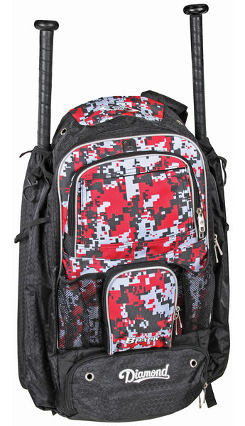 Diamond BPACK Baseball or Softball Backpacks - Scarlet Camo