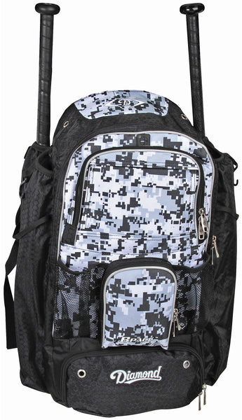 Diamond BPACK Baseball or Softball Backpacks - White Camo