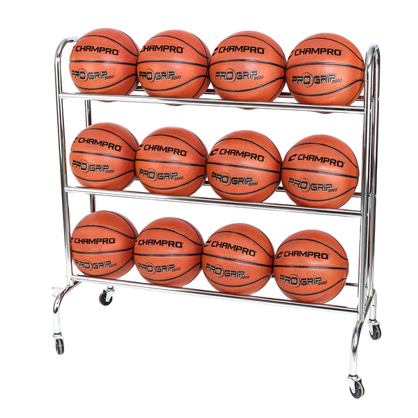 Champro BR12 12 Ball Rack with CastersUpright