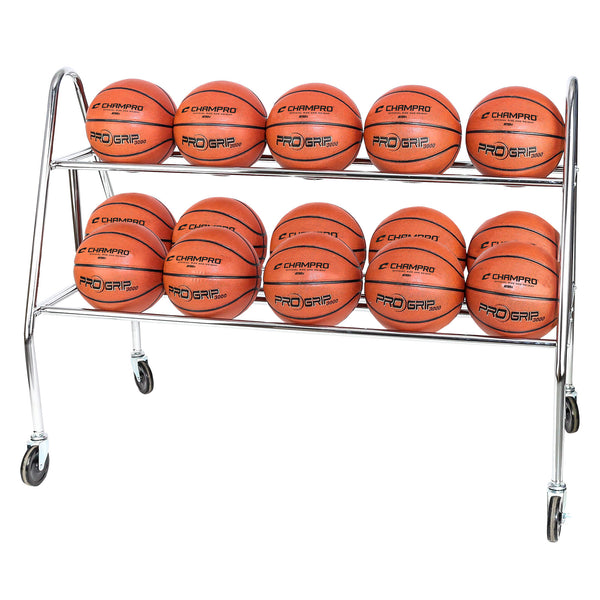 Champro BR14 Prism 15 Ball Rack with Casters - HIT A Double