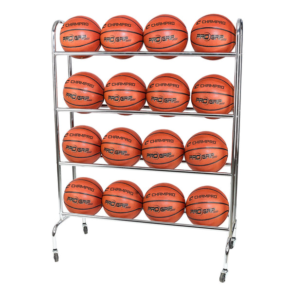 Champro BR16 16 Ball Rack with CastersUpright - HIT A Double