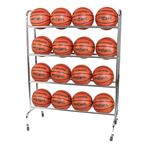 Champro BR16 16 Ball Rack with CastersUpright