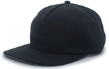 Pacific Headwear BRO5 Unstructured Acrylic-Wool Snapback Cap - Black - HIT A Double