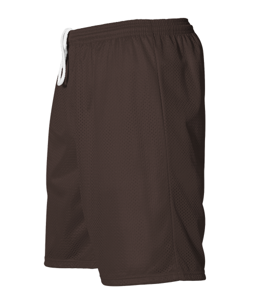Alleson 566PY Youth Extreme Mesh Unisex Short - Brown - Football, Baseball Apparel, Basketball, Lacrosse/Field Hockey, Training/Running, Fanwear - Hit A Double
