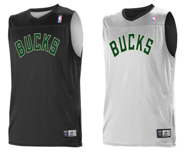 Alleson A105LA Adult NBA Logo Reversible Game Jersey - Milwaukee Bucks