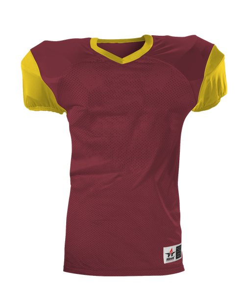 Alleson 751Y Youth Pro Game Football Jersey - Cardinal Gold - Football - Hit A Double