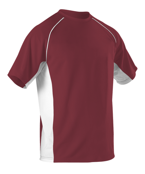 0564aedec Alleson 506C1 Adult Baseball Jersey Crew Neck - Cardinal White