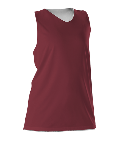 Alleson 506CRW Women's Reversible Racerback Tank - Cardinal White - Basketball, Lacrosse/Field Hockey - Hit A Double
