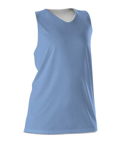 Alleson 506CRW Women's Reversible Racerback Tank - Carolina Blue White - Basketball, Lacrosse/Field Hockey - Hit A Double