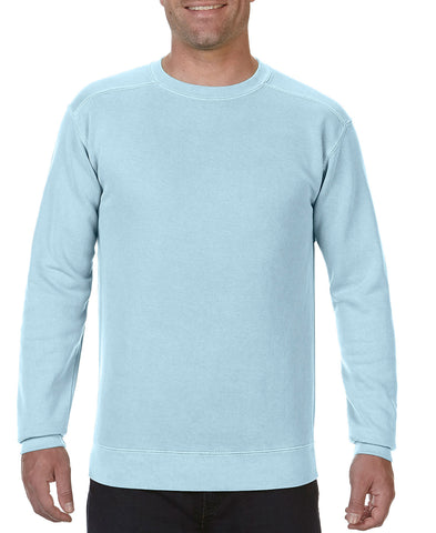 Comfort Colors 1566 Ring Spun Crewneck Sweatshirt - Chambray - HIT A Double