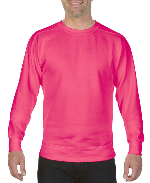 Comfort Colors 1566 Ring Spun Crewneck Sweatshirt - Heliconia - HIT A Double