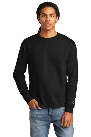 Champion CC8C Heritage 5.2 oz Jersey Long Sleeve Tee - Black - HIT A Double