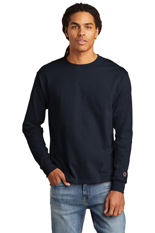 Champion CC8C Heritage 5.2 oz Jersey Long Sleeve Tee - Navy - HIT A Double