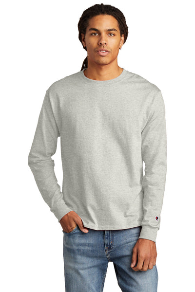 Champion CC8C Heritage 5.2 oz Jersey Long Sleeve Tee - Oxford Gray